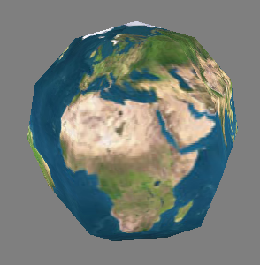 Sample Procedurally-Generated Sphere (6 slices, 6 stacks)