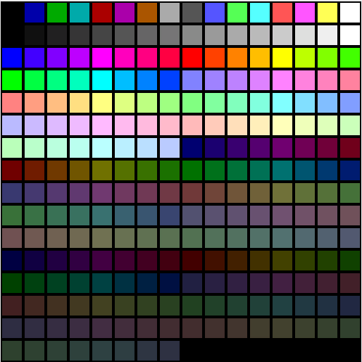 VGA Palette in DXT