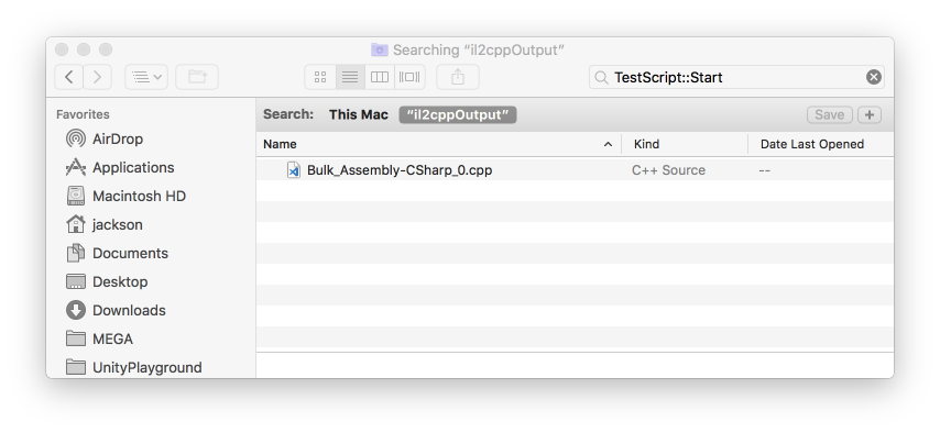 Android Build on macOS - Search in Finder